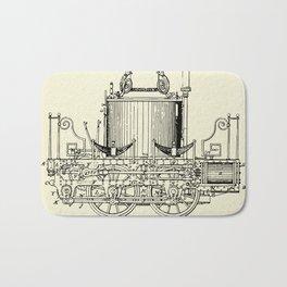 Locomotive Steam Engine-1837 Bath Mat