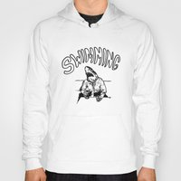 swimming Hoodies featuring Swimming by Akoala