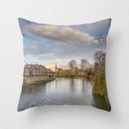 The River Severn Throw Pillow