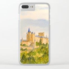 The Alcazar Segovia Spain Clear iPhone Case