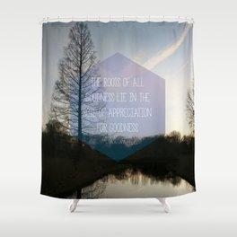 Roots Artprint Shower Curtain