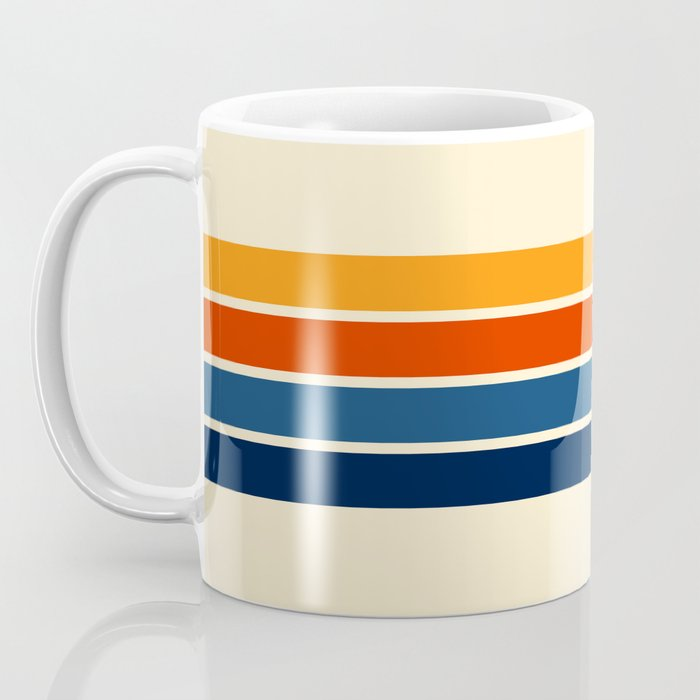 Classic Retro Stripes Kaffeebecher