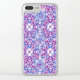 Cracked Oriental Ornate Pattern Clear iPhone Case