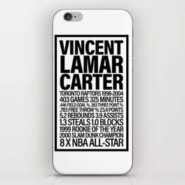 Vince Carter - All Time Raps Stats iPhone Skin