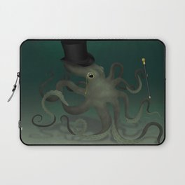 Octopus with a top hat Laptop Sleeve