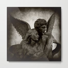 With Angels Wings Metal Print