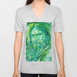 GRIGORI RASPUTIN - watercolor portrait.2 Unisex V-Neck