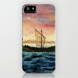 Drakkar, watercolor iPhone Case