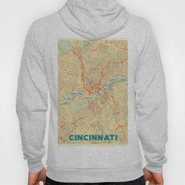 Cincinnati Map Retro Hoody