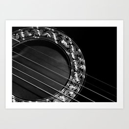 Still my guitar Art Print