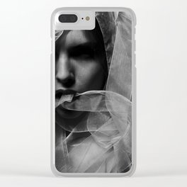 Mysterious Girl Clear iPhone Case