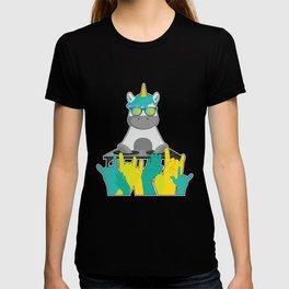 Dj unicorn party sunglasses T-shirt