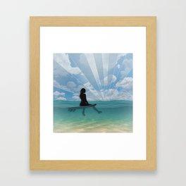 View from a Surfboard Framed Art Print