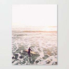 surf summer sunset Canvas Print