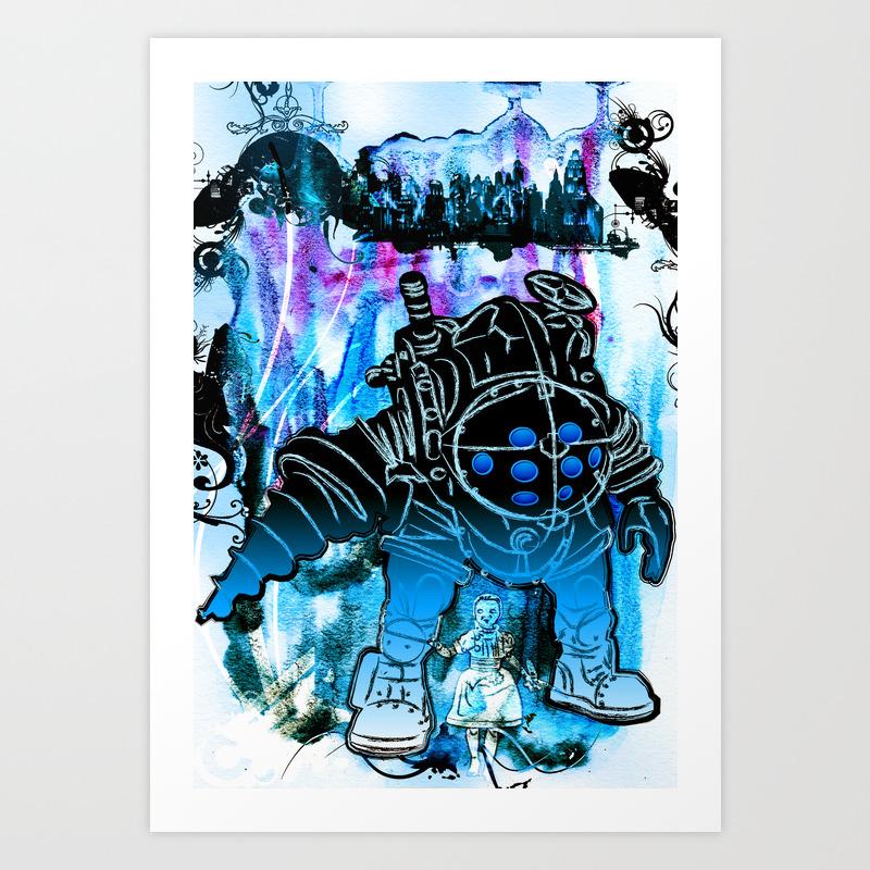 Bioshock Big Daddy Little Sister Art Print