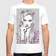 Violet Mens Fitted Tee MEDIUM White