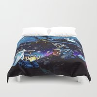 wall e Duvet Covers featuring Wall-E Collage by artbywilliam