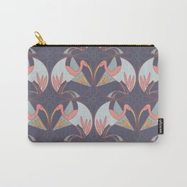 Art Deco Cranes - Lavender/Pink Carry-All Pouch