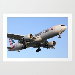 AA 777-200 in New Colors Art Print