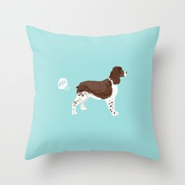 english springer spaniel funny farting dog breed gifts Throw Pillow