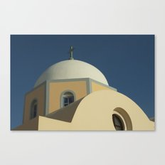 Santorini chapel Canvas Print