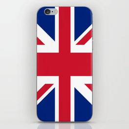 red white and blue trendy london fashion UK flag union jack iPhone Skin