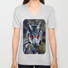 The Great Horned Owl Unisex V-Neck