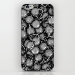 Kettlebells B&W iPhone Skin