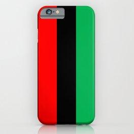 Kwanzaa Red Black Green Stripes iPhone Case