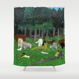 1945 American American Masterpiece 'Holy Mountain III' by Horace Pippin Shower Curtain