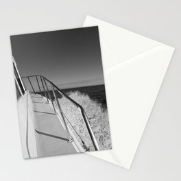 Sailing in the wind through the waves, Boat, Black and White photography #Society6 Stationery Cards