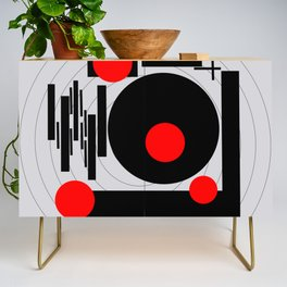 Optical Red Credenza