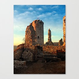 The ruins of Waxenberg castle | architectural photography Canvas Print