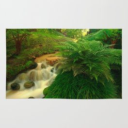 Stream in the forest Rug