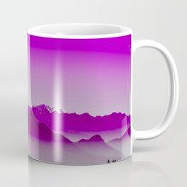 Rise above the mist. Purple Coffee Mug