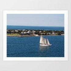 Sailing Key West Art Print