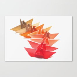 Cranes on Fire Canvas Print
