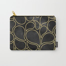 BLACK AND GOLD DROPS MARBLE Carry-All Pouch