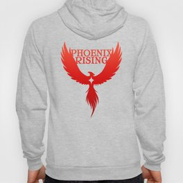 PHOENIX RISING red with star center Hoody