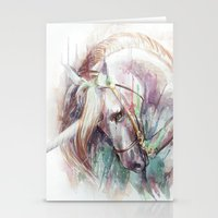 unicorn Stationery Cards featuring Unicorn by beart24