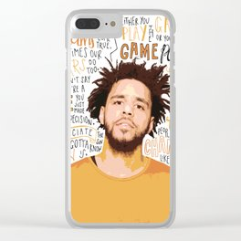 J Cole quote print / poster hand drawn type / typography Clear iPhone Case