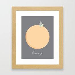 L'orange Framed Art Print