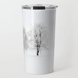 trees in winter Travel Mug