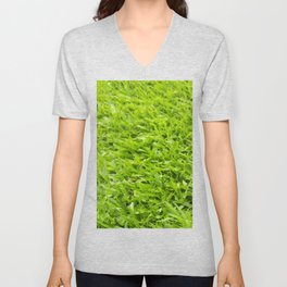 A million leaves of grass. Green is Everything Unisex V-Neck