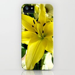 Yellow Lilly  iPhone Case