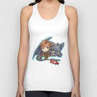 hiccup Tank Tops featuring Httyd 2 - Chibi Hiccup and Toothless by ibahibut