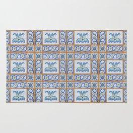 Vintage Art Nouveau Tiles Rug