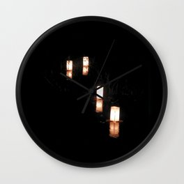 Lanterns of Healing (Japan) Wall Clock