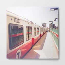 Boston Red Line MGH Train  Metal Print