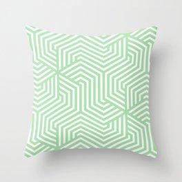 Celadon - green - Minimal Vector Seamless Pattern Throw Pillow